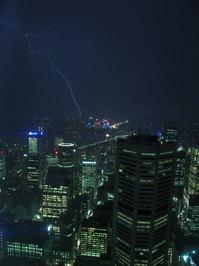 Lighning over Sydney