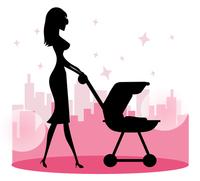 Mommy Walking Baby