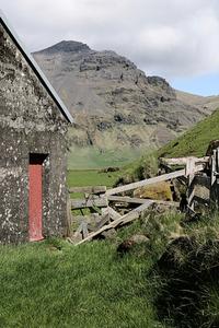 Iceland Red Door Barn