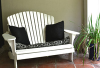white adirondak bench