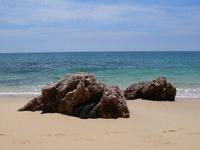 Rocks relaxing on beach