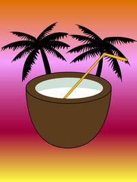 Exotic drink vector illustration