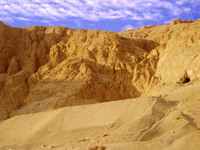 Rock-face outside Luxor