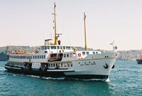 Ship in Bosphorous