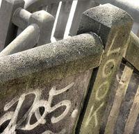 Stone railing