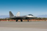 F-22 Raptor on Flight Strip