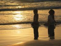 sunset children