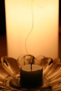 smoldering candle