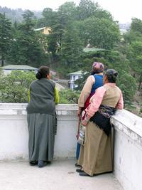 Tibetan Ladies by ledge