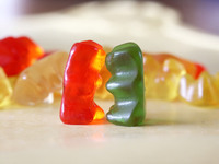 Gummy bear kiss