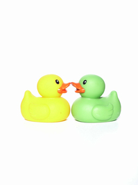 Duckies kissing