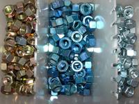 Shiny metallic nuts