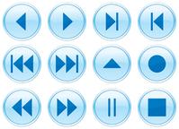 Multimedia navigation buttons set