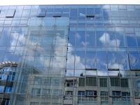 glass facade reflections