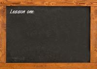 Blackboard in the classroom 2