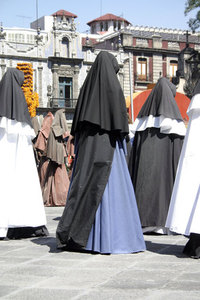 nun and monks