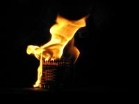 burning cube