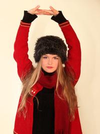 Beautiful girl in black cap #1