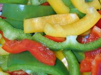 i peperoni veri rossi e gialli