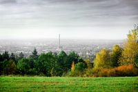 smog city in autumn