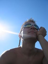 Sun shining on me