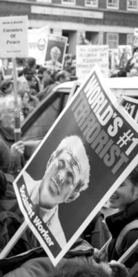 stopbu$h protest b/w