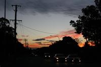 Sunset in suburb