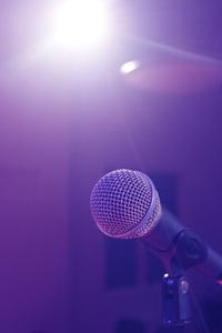 Backlit Microphone