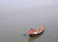 Boatman with the boat