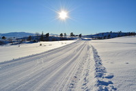 Norwegian mountain ski track
