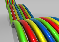 Colored glossy lines 3D 1