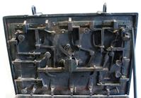 Iron locks of medieval treasure chest