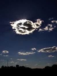 A sun hidden on the sky