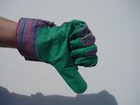 A hand giving a NOT OK