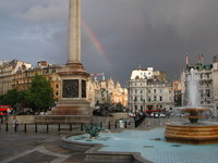 Rainbow on Trafalgar Square
