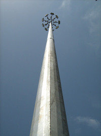 High mast, flood light tower