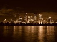 sydney skyline 02, sepia