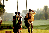 golfers in the sunlight
