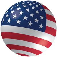 3D American Ball Flag