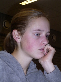 Concentrated girl