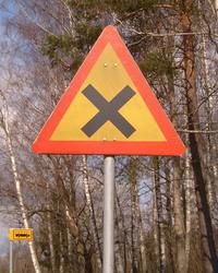 Warning Crossroads