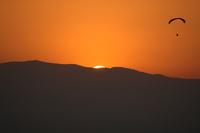 Parachute at sunset