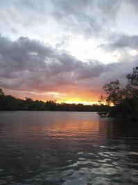 Yellow rivers sunset