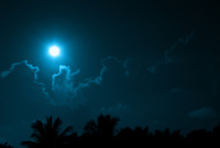 Blue moon sky