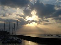 Sunset over Yarmoth marina