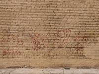 Brick wall, graffity