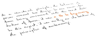 some written textlines