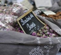Bag of dried rosebuds