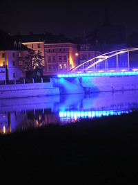 blue bridge in Opole City 3