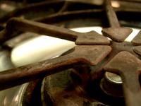 Old stove burner